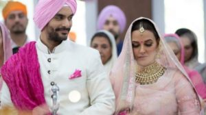Neha dhpia and angad bedi wedding 2018