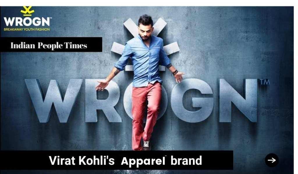 Virat kohli's Apparel business Wrogn